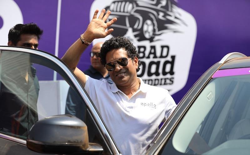 Sachin Tendulkar, Brand Ambassador Apollo Tyres Ltd At The #badroadbuddies Event In Goa