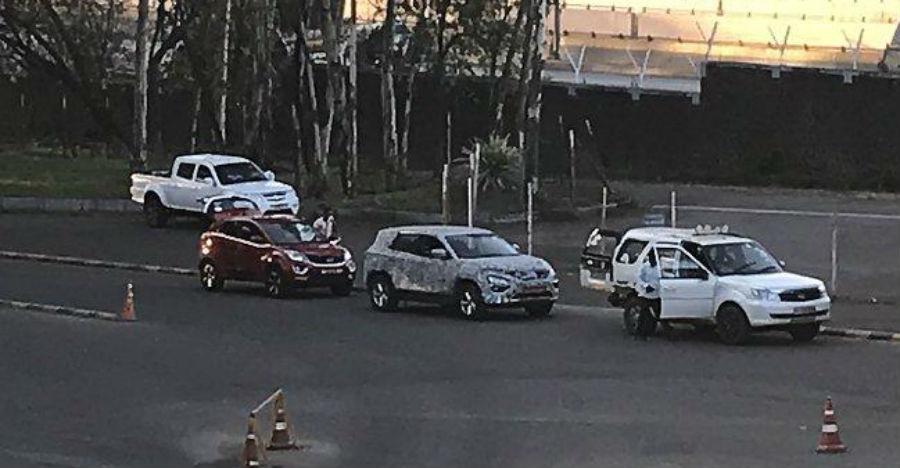 Tata H7X caught testing with Safari Storme & Nexon before launch