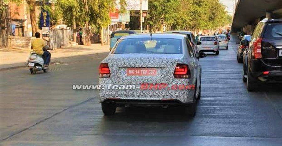 Volkswagen Vento and Polo facelift spotted testing