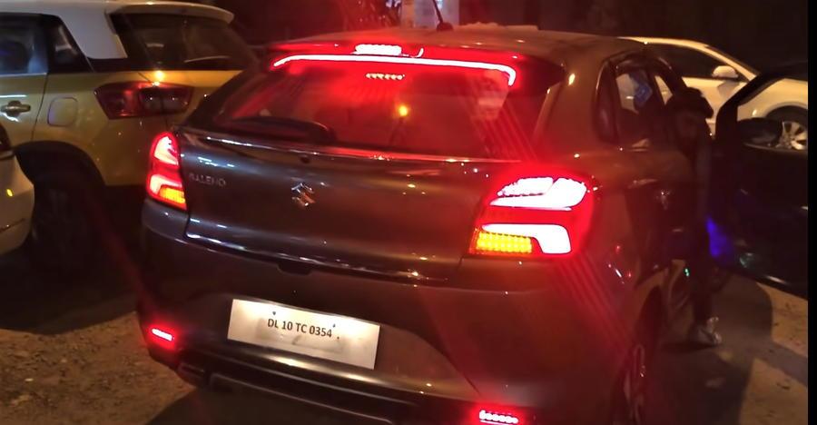 Maruti Suzuki Baleno Facelift with Audi-style Matrix tail lamps [Video]