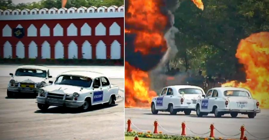 Cisf Hindustan Ambassador Stunt Featured