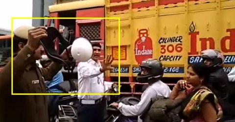 Cop Helmet Break Featured