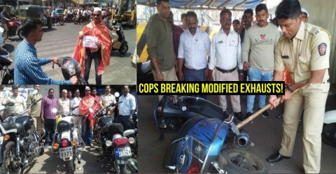 Cops Hammering Modified Exhausts Featured