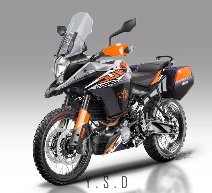 Duke 125 Adventure Render