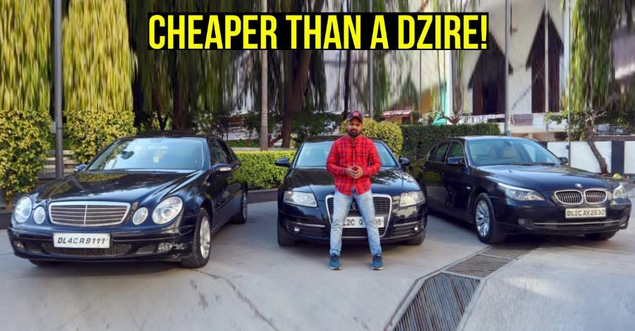 Used Audi, BMW & Mercedes luxury sedans for less than a Maruti Dzire
