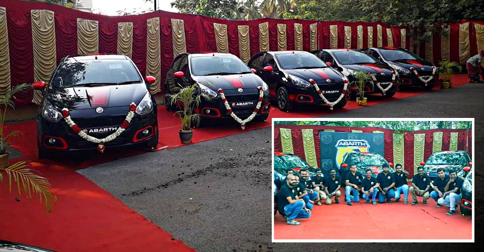 11 car enthusiasts buy India's last few Fiat Punto Abarths on the same day