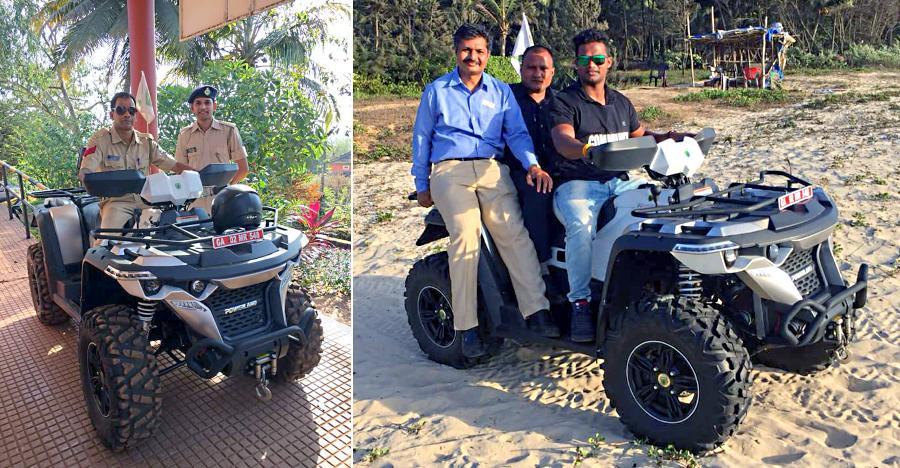Goa police will now patrol beaches with Powerland 4X4 ATVs