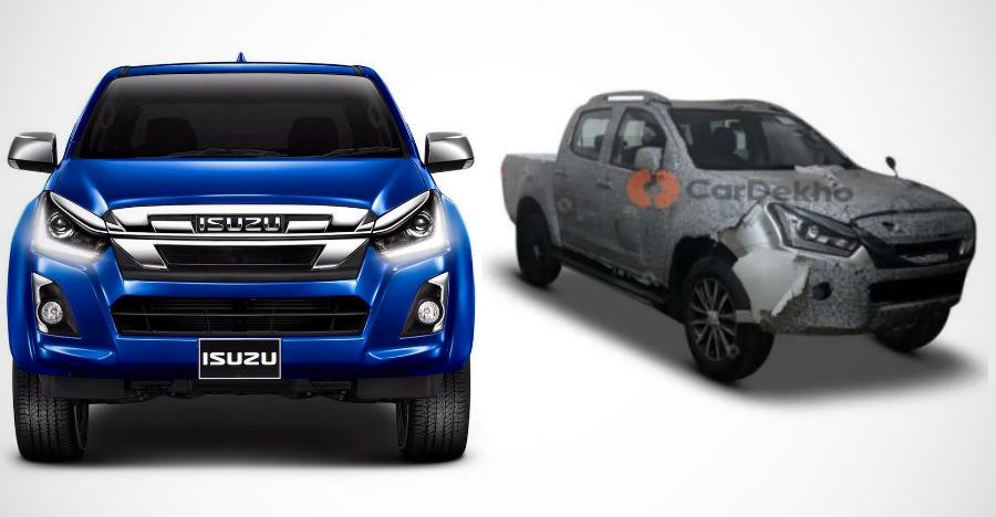 Upcoming 2019 Isuzu D-Max V-Cross spied in India before launch