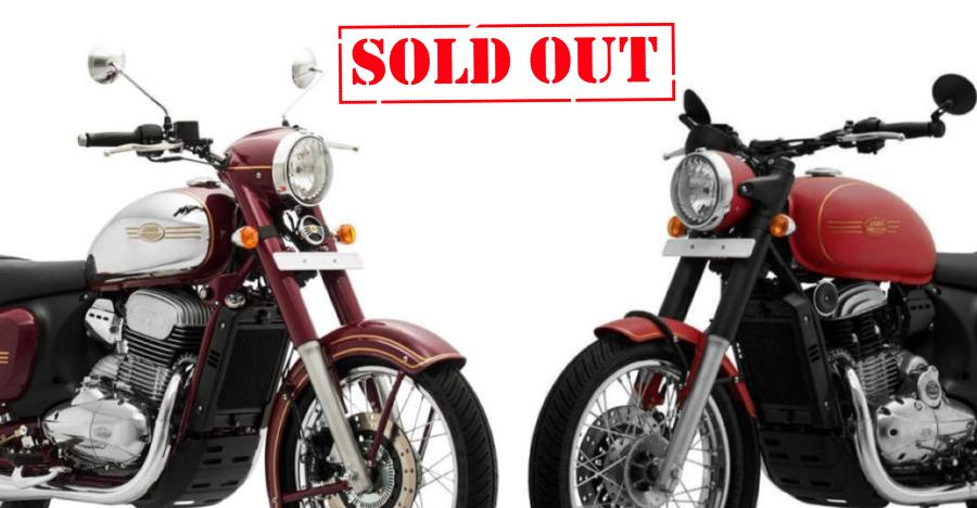Jawa 42 & Classic motorcycles SOLD OUT in Kerala till end of 2019, bookings may be closed!