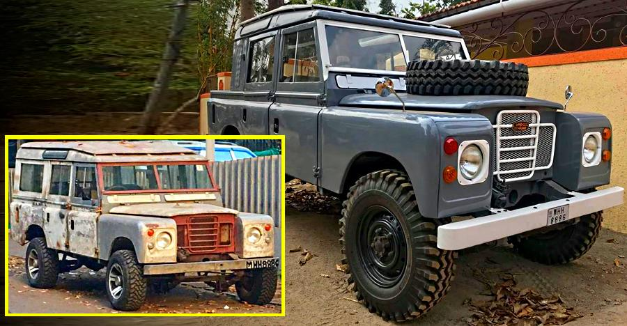 land rover series 2a resto modified in india vintage to modern vintage suv. Black Bedroom Furniture Sets. Home Design Ideas