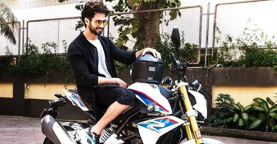 Shahid Kapoor super IMPRESSED with the TVS Apache-based BMW G 310R