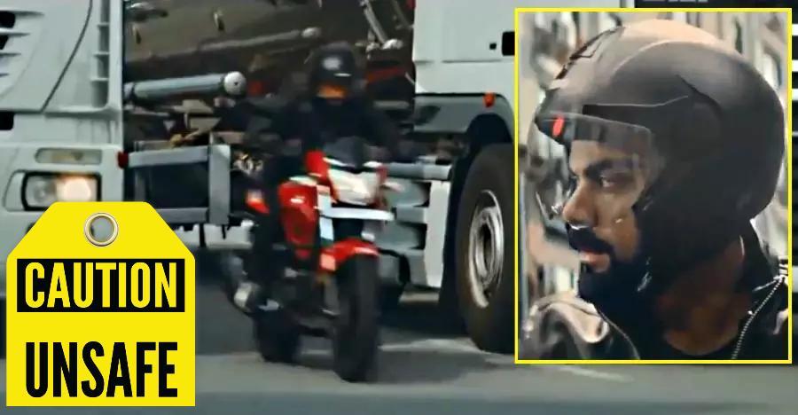 Virat Kohli's Hero Xtreme 200R ad encourages unsafe riding: ASCI