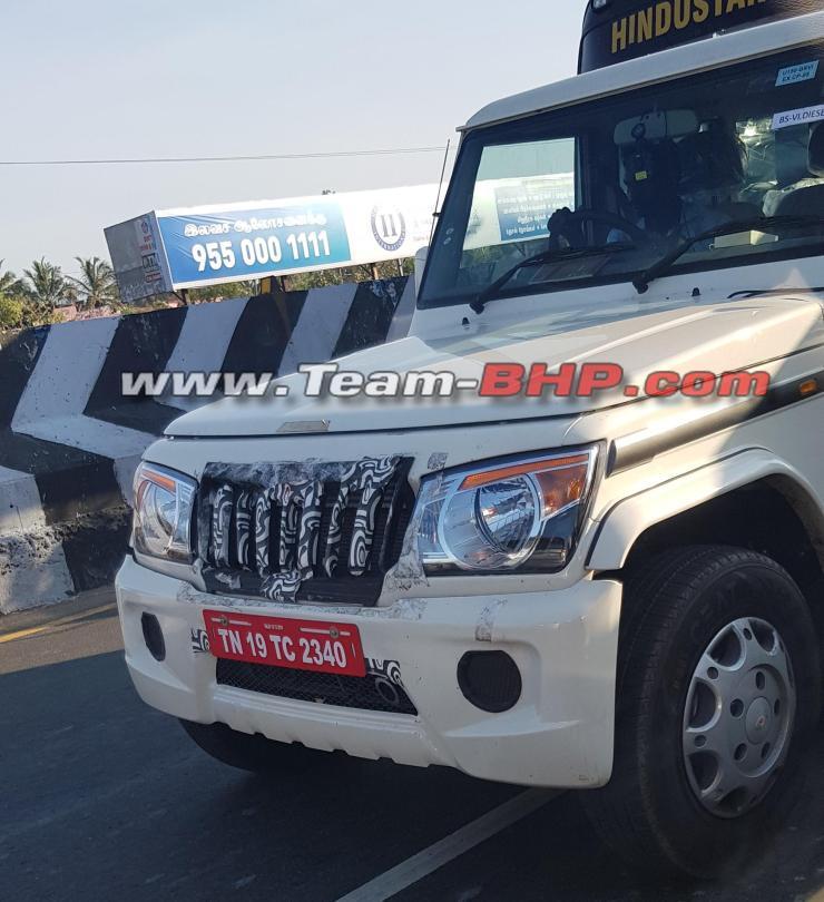 Upgraded Mahindra Bolero Spied In India