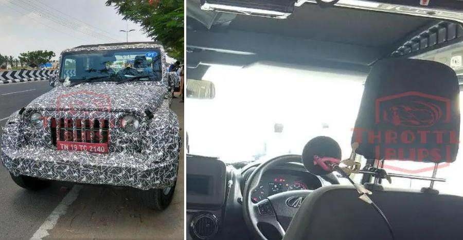 2020 Mahindra Thar interiors revealed: Front-end looks like Jeep Wrangler