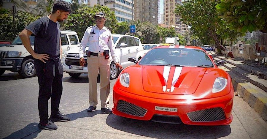 Cops stop India's only Ferrari F430 Scuderia supercar: Let it go after taking pictures [Video]