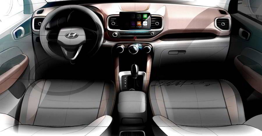 Hyundai Venue Interiors Sketch Featured