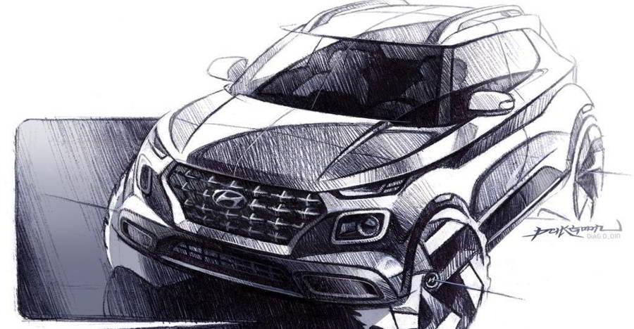 Hyundai Venue Sketch Copy