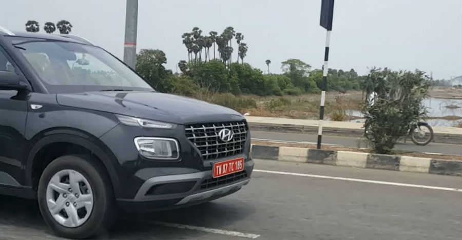 Hyundai Venue compact SUV: What it looks like on Indian roads [Video]