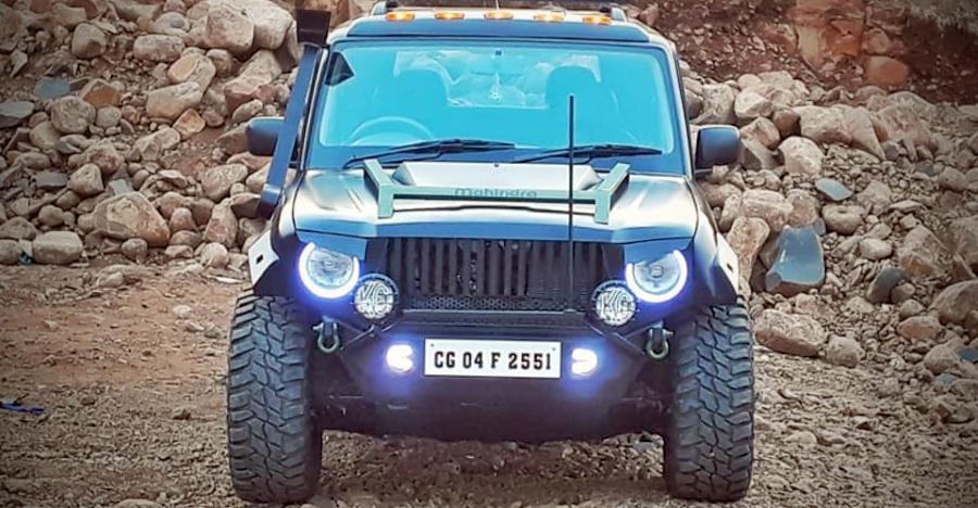 Modified Mahindra Scorpio from NYC Customs looks mean & MUSCULAR!