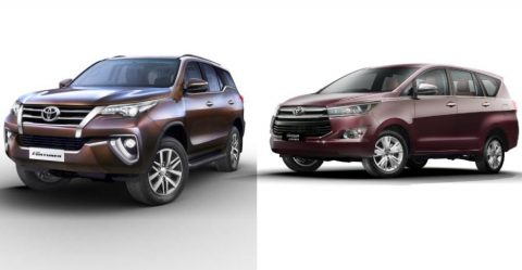 Updated Toyota Innova & Fortuner Featured