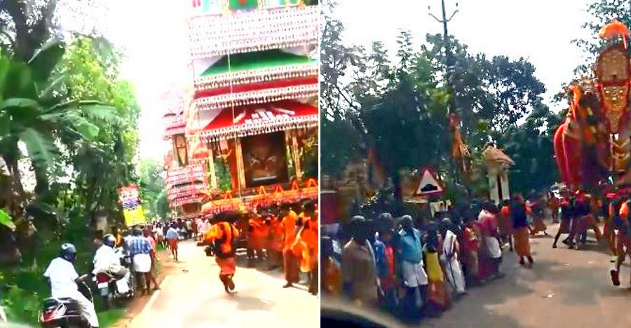 Watch big crowds celebrating a festival in Kerala make way for an ambulance [Video]