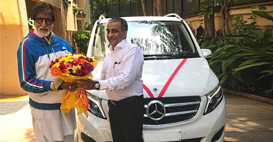 Amitabh Bachchan Mercedes V Class Mpv Featured