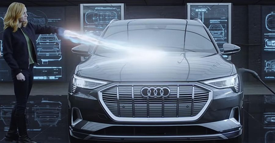 Watch Captain Marvel drive an Audi e-Tron SUV in this TVC for Avengers Endgame