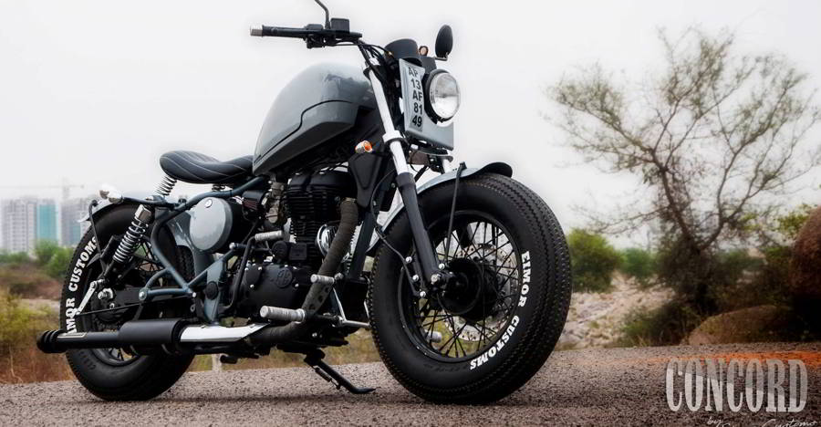 This Custom bobber based on the Royal Enfield Classic is one hell of a looker