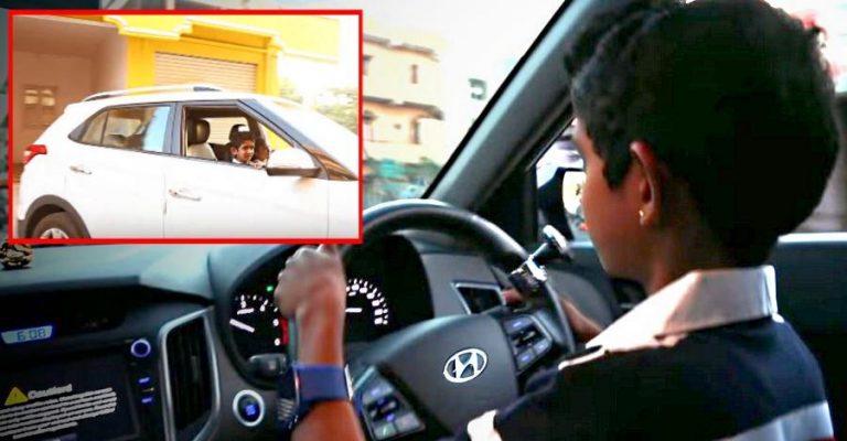 Hyundai Creta 10 Year Old Kid Driving Featured