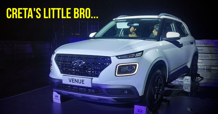 Hyundai Venue SUV officially unveiled in India: Launch & price announcement next month