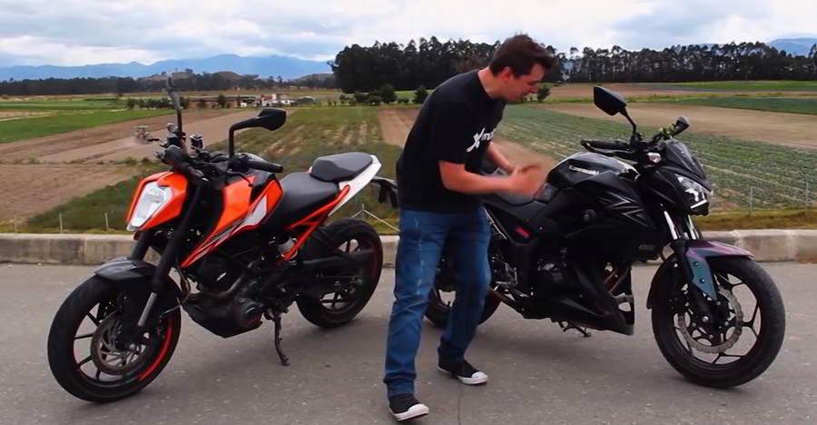 KTM Duke 250 vs Kawasaki Z250 in a drag race [Video]