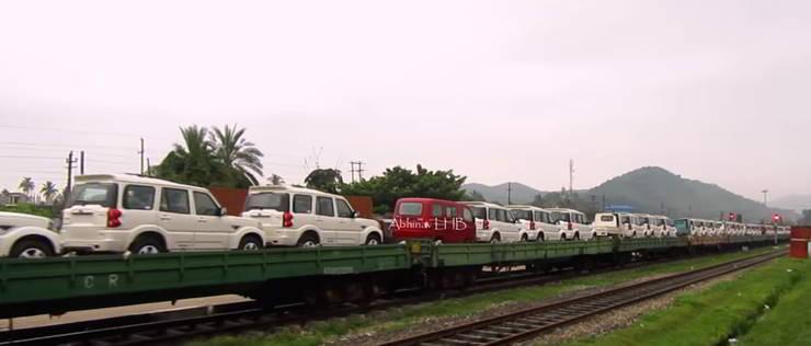 Mahindra Scorpio On Train 2