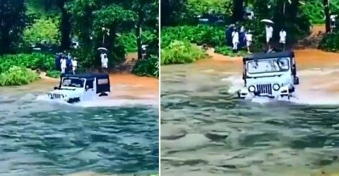 Mahindra Thar River Crossing Featured