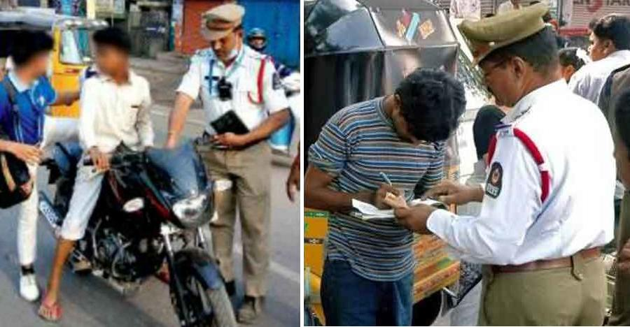 172 booked in Hyderabad for under-age driving and riding