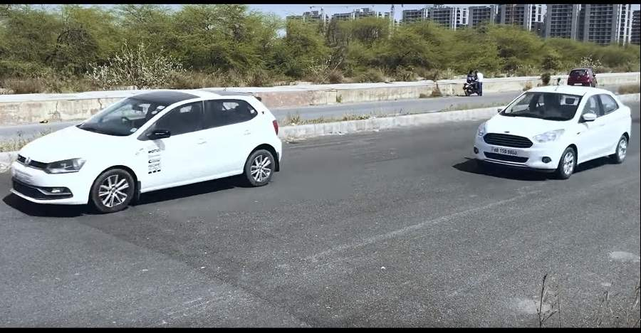 Volkswagen Polo GT TSI vs Ford Aspire in a drag race: Who Wins? [Video]