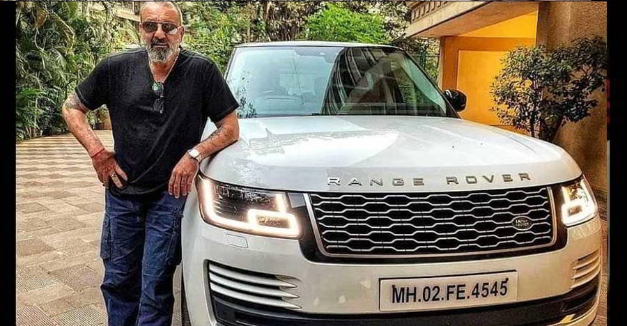 First picture of Sanjay dutt with his multi-crore Range Rover