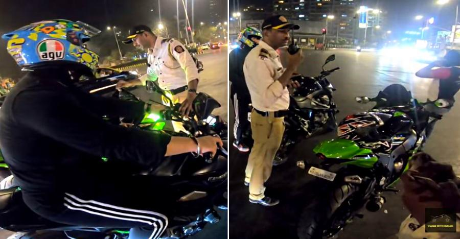 Superbikers Busted Mumbai Police Control Room Featured