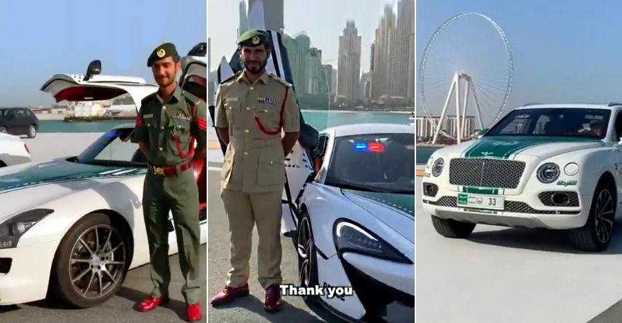 Watch super expensive & EXOTIC cars of the Dubai police on Video: Mercedes SLS AMG to Bentley Bentayga
