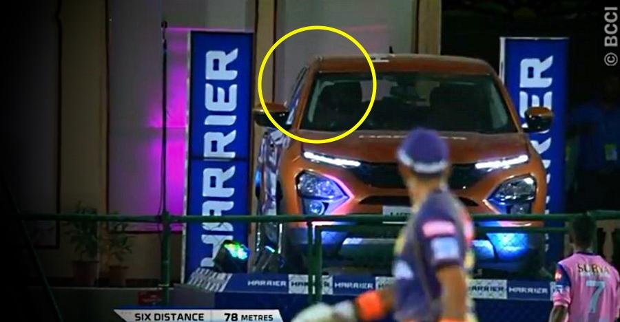 Tata Harrier windshield hit by ball during IPL: Windshield survives the hit [Video]