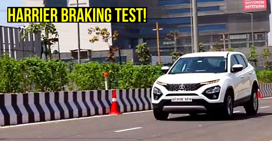 Tata Harrier Braking Test at different speeds: Watch how it performs [Video]