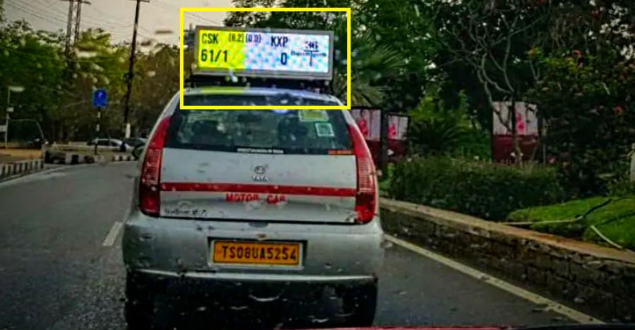 Tata Indica with live IPL score display is the coolest thing you will see today