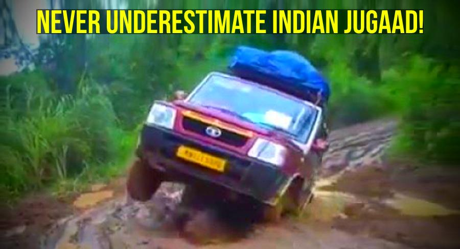 Tata Sumo gets royally STUCK in deep slush: Hilarious Indian jugaad gets it out [Video]