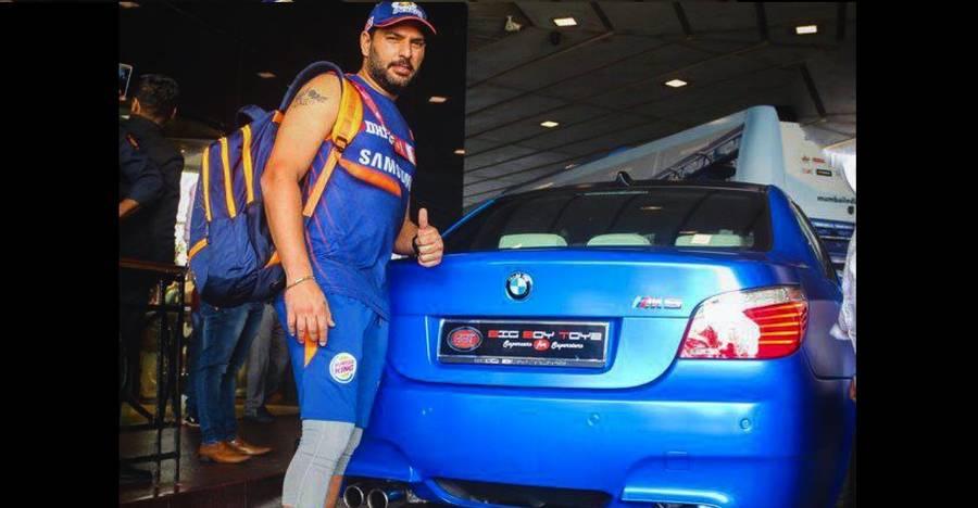 Yuvraj Singh gets himself a WILD blue BMW M5