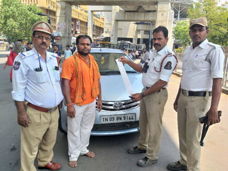 Cops FINE Toyota Etios owner by nearly Rs  1 lakh