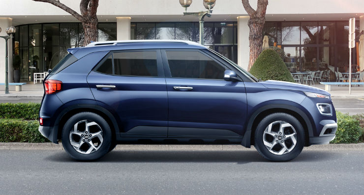 Hyundai Venue Suv Exterior Mid Pc 1120x600 5 Blue Color Side Profile Shot