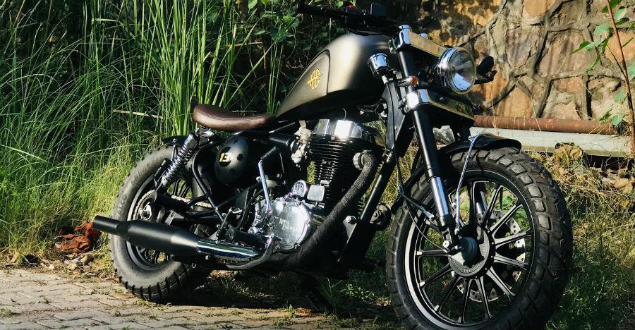 Royal Enfield Thunderbird 350 transformed into Harley