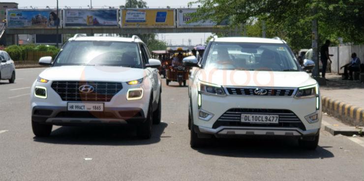Exclusive Hyundai Venue Spotted Next To A Mahindra Xuv300 Tata