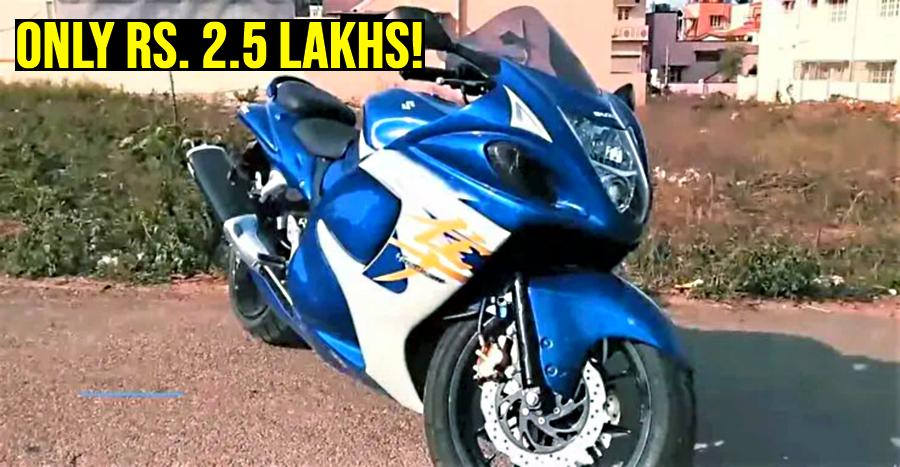 Why is this Suzuki Hayabusa priced at just Rs  2 5 lakhs