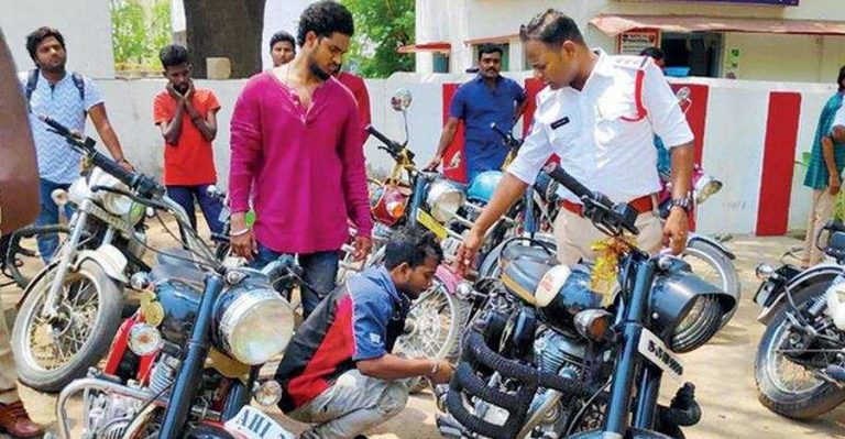 Hyderabad Royal Enfield Loud Exhaust Ban Featured
