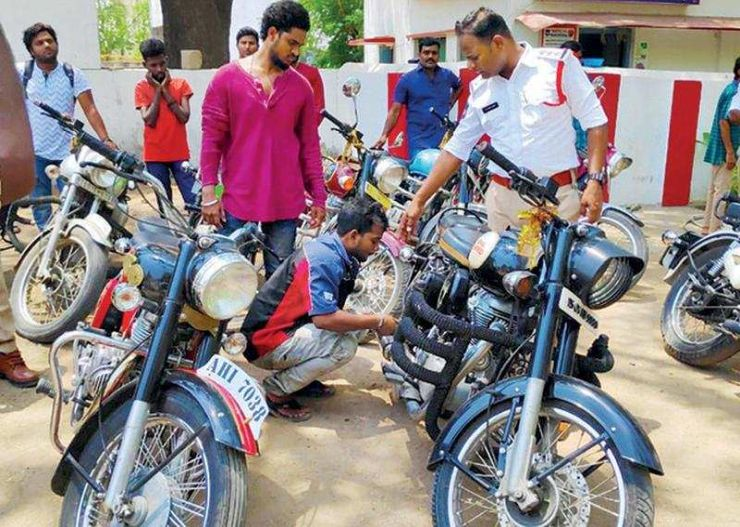 Hyderabad Royal Enfield Loud Exhaust Ban
